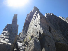 Rock Climbing Photo: This is at the top of the notch. Walk through the ...