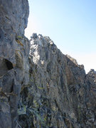 Rock Climbing Photo: Once you reach the top you climb around the right ...