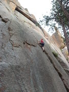Rock Climbing Photo: After the crux and having fun.