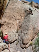 Rock Climbing Photo: About to engage the crux.