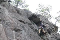 Rock Climbing Photo: First ascent of Secret Hurl.