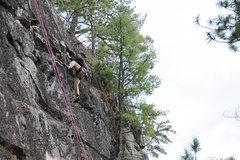 Rock Climbing Photo: Highstep on easier terrain.