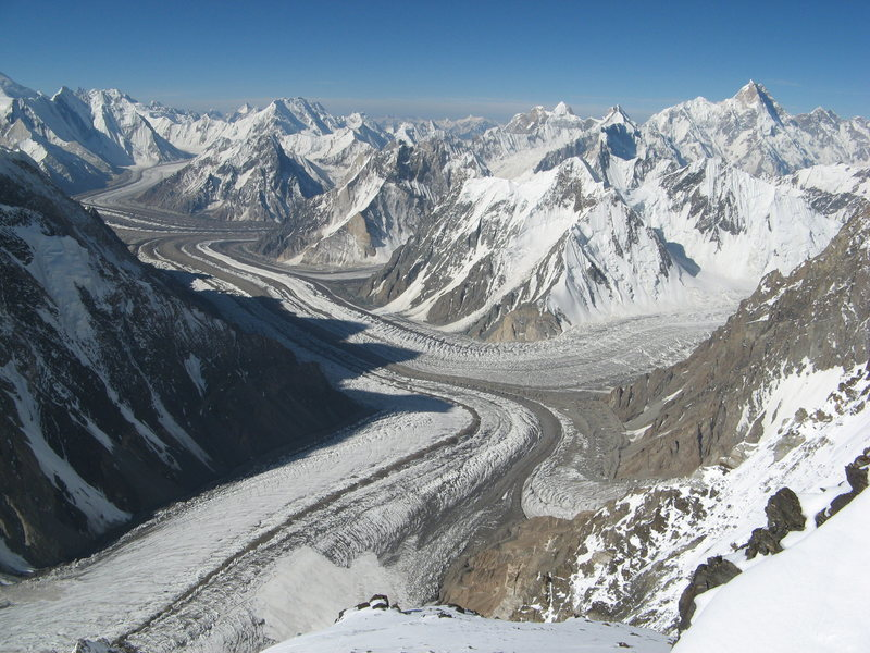 Looking down on Concordia from K2
