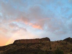 Rock Climbing Photo: Rainbow over Trout Creek