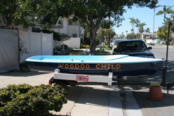 "12' sloop ""VOODOO CHILD""---a project to take my niece to the islands."