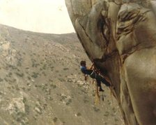 Rock Climbing Photo: Another overhang shot, also taken back in the day....