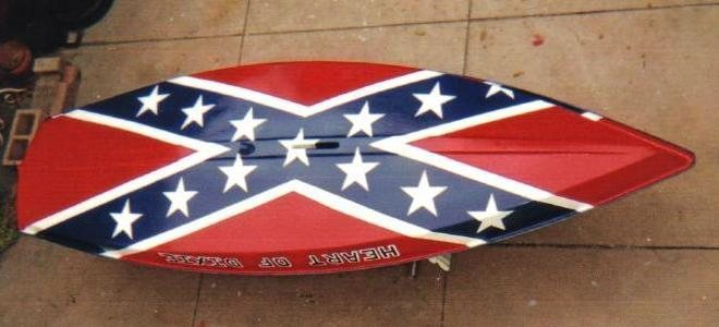 """HEART OF DIXIE""---my little Confederate Gunboat."