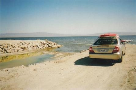 Rock Climbing Photo: The West Shore of the Salton Sea... WAHOO!!!