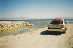Rock Climbing Photo: The West Shore of the Salton Sea... WAHOO!!!
