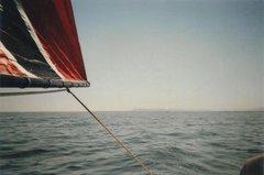 Rock Climbing Photo: Sailing clear across the Salton from Salton City t...