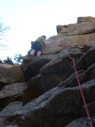 Rock Climbing Photo: Getting ready for the crux.