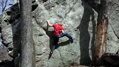 Rock Climbing Photo: David Quinney running a lap up the classic face, U...