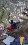 Rock Climbing Photo: Jimmy Webb flashing Jugnle Book. After sending he ...