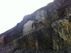Rock Climbing Photo: Sending the spitter.