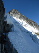 Rock Climbing Photo: Looking back at the first snow traverse (we went t...