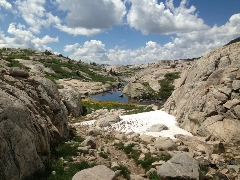 Rock Climbing Photo: Leaving Titcomb Basin