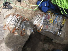 Rock Climbing Photo: The gear I used. Many other options available, all...