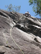 Rock Climbing Photo: In the 5.7 R section. It's fine; it's 15 ft above ...