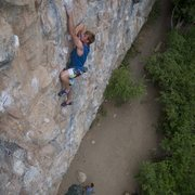 Rock Climbing Photo: Simon Longacre on Poetic Justice.