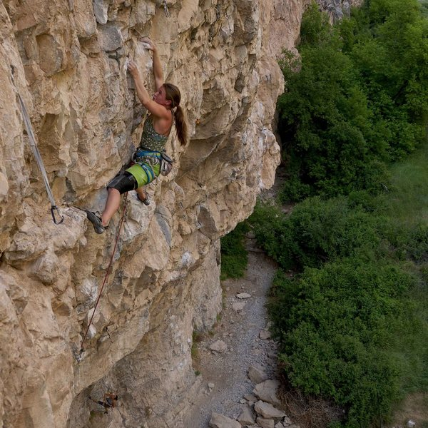 Rock Climbing Photo: Sarah Watson on Pump-A-Rama.  James Lucas photo.