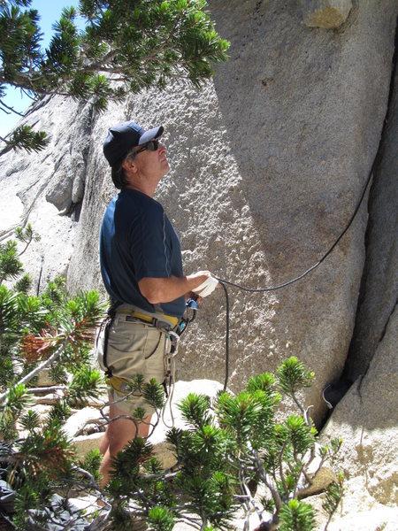 Rock Climbing Photo: Tim at Guide cracks, Daff Dome