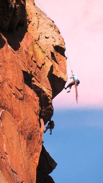 Rock Climbing Photo: typical crazy day at Eldo