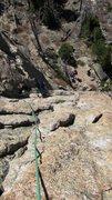 Rock Climbing Photo: Estes Park, CO P2 Mainliner, Sundance Buttress