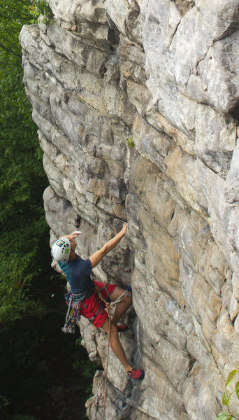 Rock Climbing Photo: Black Crack on a hot & humid summer day