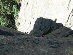 Rock Climbing Photo: Deb Thompson on Forget Me Not.