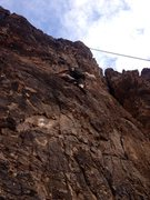 Rock Climbing Photo: Climbing Lookout Mt 5.7
