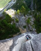 Rock Climbing Photo: This photo gives you an idea of the 14 or so pitch...