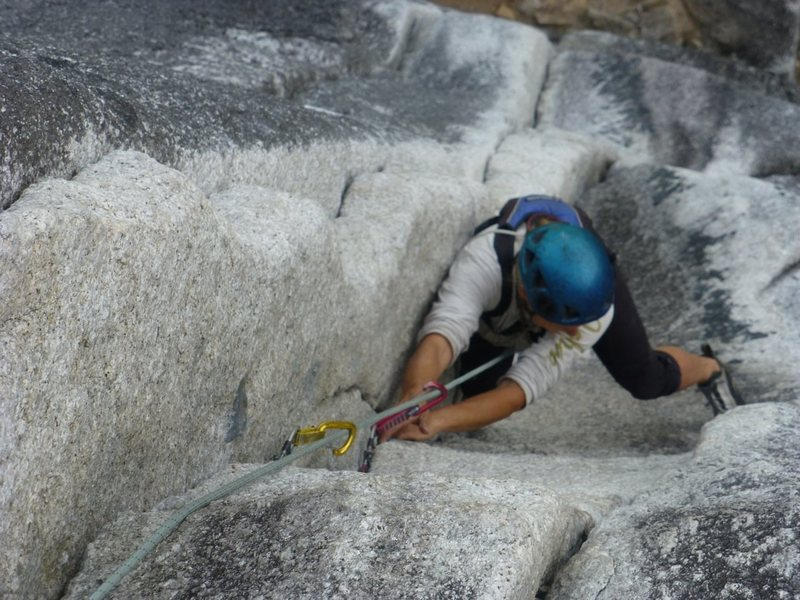 Rock Climbing Photo: The crux  pitch