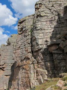 Rock Climbing Photo: To the right of the prominent crack (Too Many Chie...