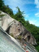 Rock Climbing Photo: Jon G making the third clip on his route White Rio...