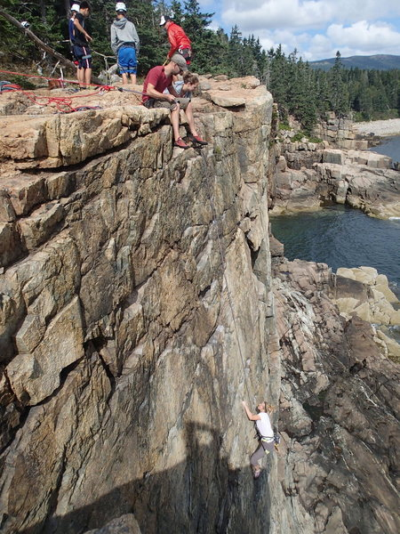 Rock Climbing Photo: Our first top rope of Wonder Wall. An amazing clim...
