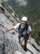 Rock Climbing Photo: Mike Margala on 2nd pitch of Hard Lark, 5.7, Tahqu...