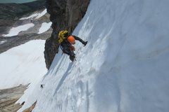 Rock Climbing Photo: Steep snow on a fun route