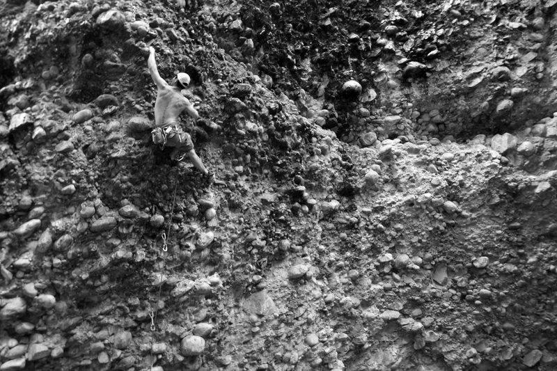 Rock Climbing Photo: nikki at the top