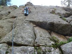 Rock Climbing Photo: Approaching the crux.
