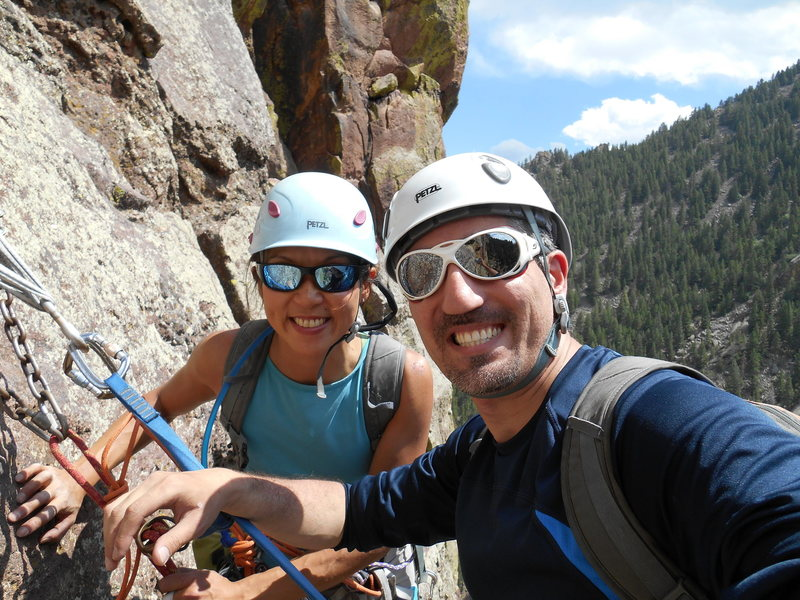 Rappel down was long and hard