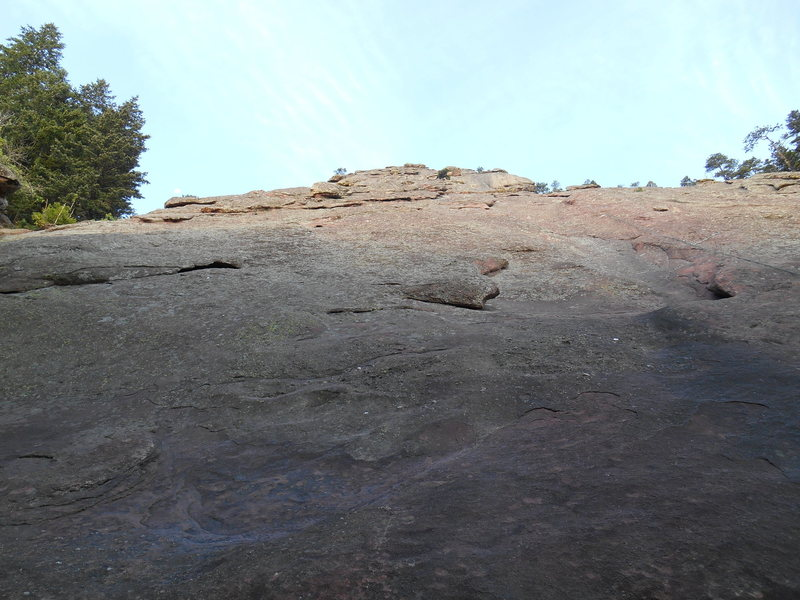 The beginning of the East Face Direct route.