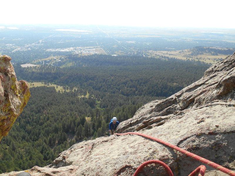 Rock Climbing Photo: Getting up the calf burning slabs.