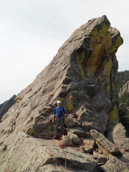 Near the big notch on the ridge
