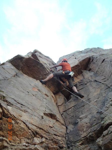 Rock Climbing Photo: Ernesto is flying through the crux.
