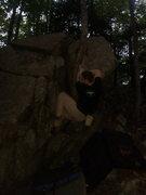 Rock Climbing Photo: Bad photo of Chris Gagne on Broken Wing.