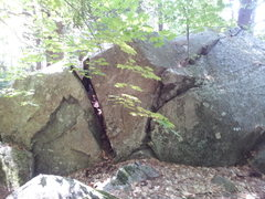 Rock Climbing Photo: V0 on left, fun V0 on the block in the middle.