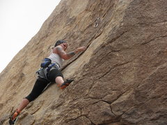 Rock Climbing Photo: Aubrey Adams cruising up Carlos Danger.