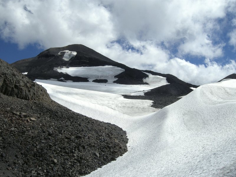 Photo of Middle Sister and the Renfrew Glacier. Photo taken late August, 2013.