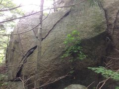 Rock Climbing Photo: Another crack on Rest Area Boulder.