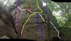 Rock Climbing Photo: Link-up Map